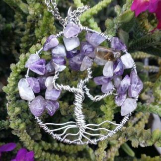 Amethyst Tree of Life Necklace