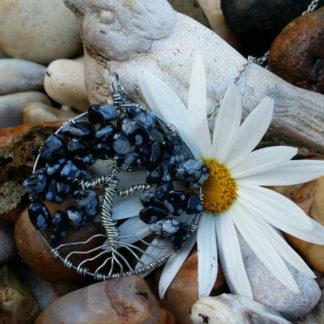 Snowflake Obsidian Tree of Life