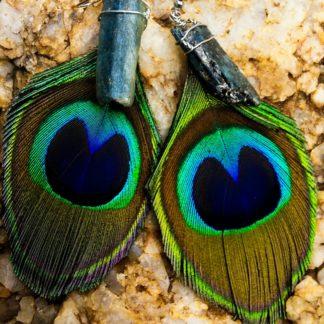 Kyanite Feather Earrings