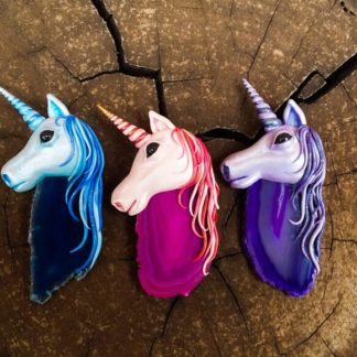 Custom made Agate Unicorn Pendants