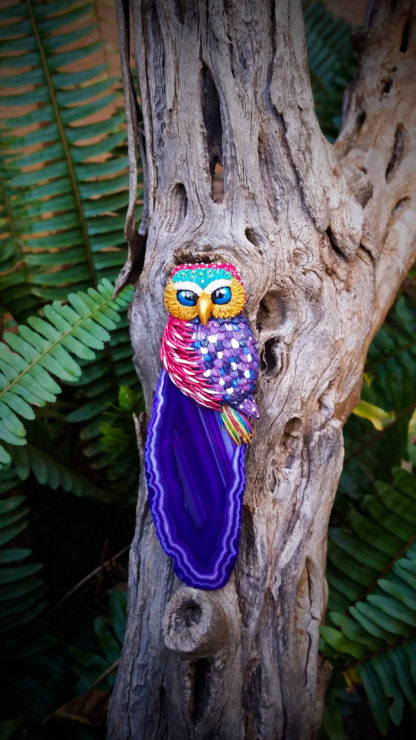 Colorful Agate Owl