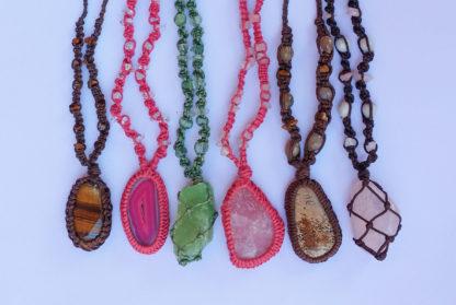 Woven Gemstone Neckpieces