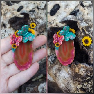 Agate Sunflower Butterfly