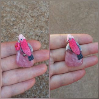 Custom Rose Quartz Parrot