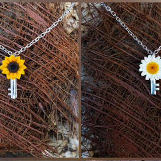 Flower Key Pendant