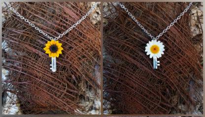 Flower Key Pendant