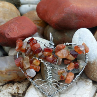 Carnelian Heart Tree of Life