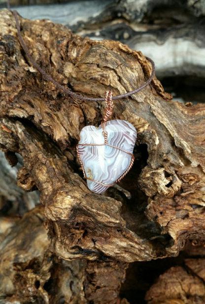 Agate and Copper Pendant