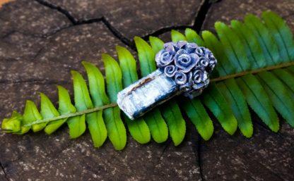 Silver Rose Kyanite Pendant