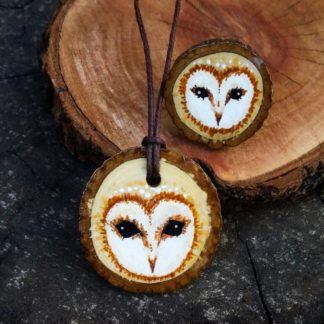 Wild Olive Owl Pendant and Ring