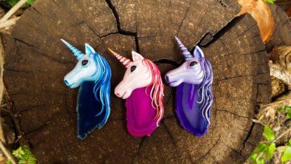 Custom made Agate Unicorn Pendants