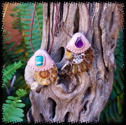 Ammonite and Tiny Gemstone