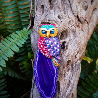 Colorful Agate Owl