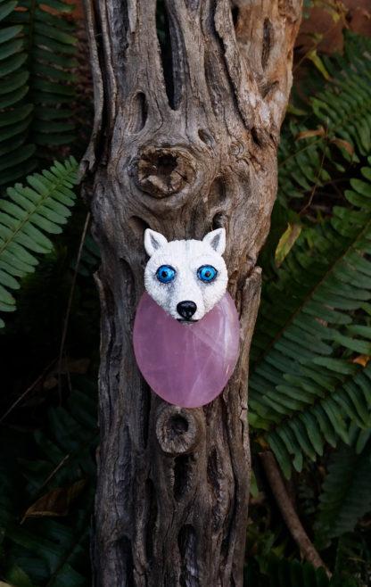 Rose Quartz Wolf