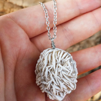 Selenite Rose Necklace