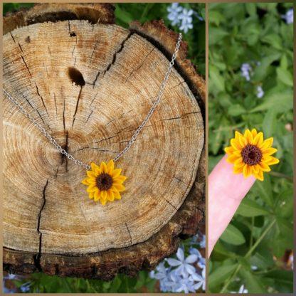 Delicate Sunflower Pendant